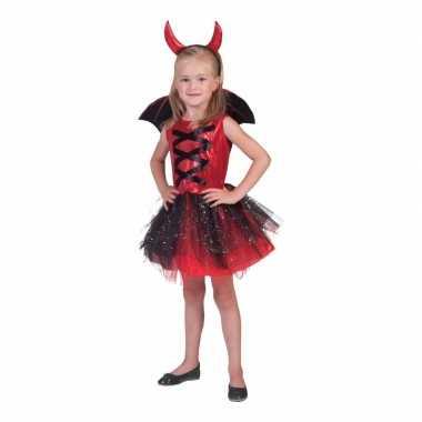 3 delige carnavalskleding jurkje duivel