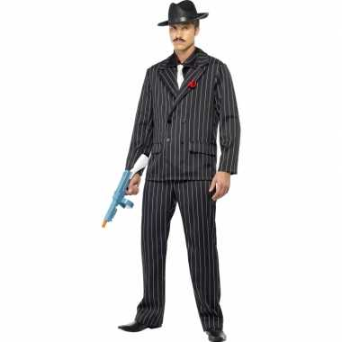 Al capone carnavalskleding zwart voor heren