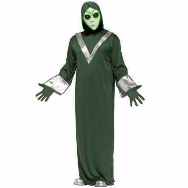Alien carnavalskleding groen