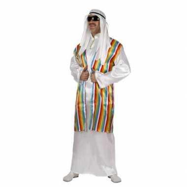 Arabisch carnavalskleding met regenboog vest voor volwassenen