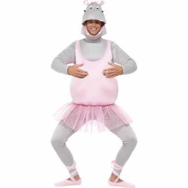 Ballerina nijlpaard carnavalskleding voor volwassenen
