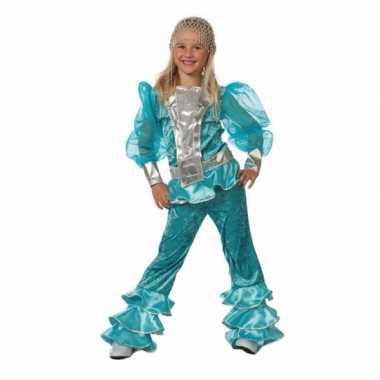 Blauw abba carnavalskleding voor kids