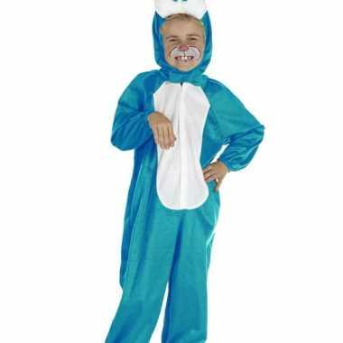 Blauw konijnen carnavalskleding voor kinderen