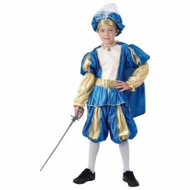 Blauw prinsen carnavalskleding voor jongens