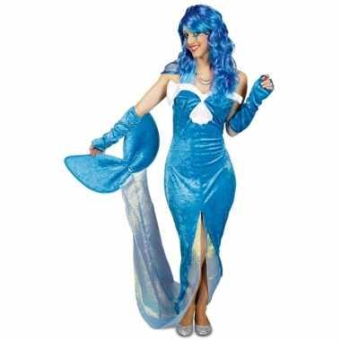 Blauw zeemeermin carnavalskleding voor dames