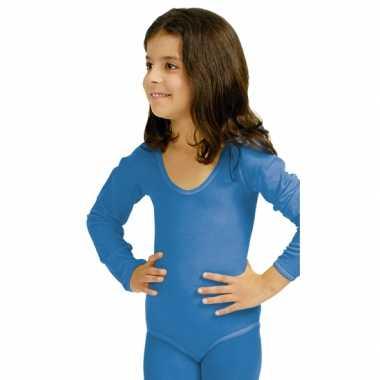 Blauwe kinder ballet carnavalskleding