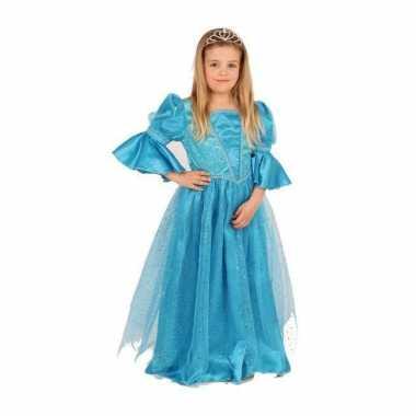 Blauwe prinses carnavalskleding voor meisjes