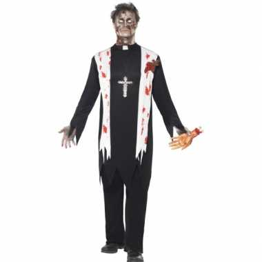Bloederige horror priester carnavalskleding