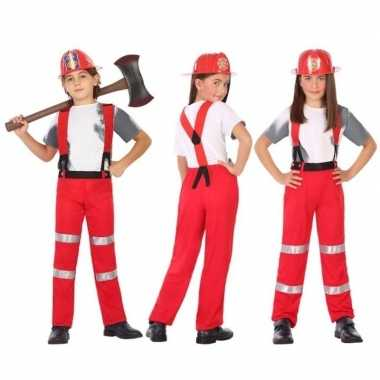 Brandweer pak / carnavalskleding voor jongens en meisjes