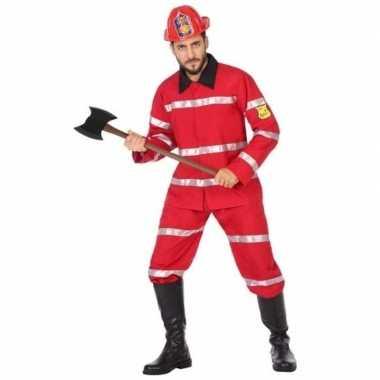 Brandweerman carnavalskleding voor heren