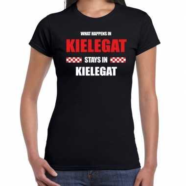 Breda/kielegat carnaval carnavalskleding / t shirt zwart dames