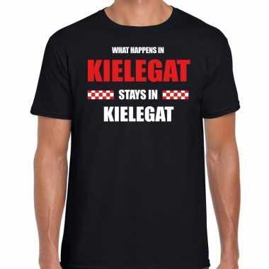 Breda/kielegat carnaval carnavalskleding / t shirt zwart heren