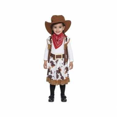 Bruin cowboy carnavalskleding voor peuters