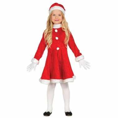 Budget kerstjurkje carnavalskleding met muts voor meisjes