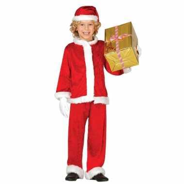 Budget pluche kerstman carnavalskleding voor kinderen 3 delig