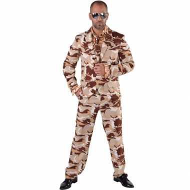 Camouflage carnavalskleding 3 delig voor heren