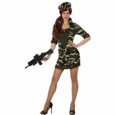 Camouflage soldaat carnavalskleding/jurk voor dames