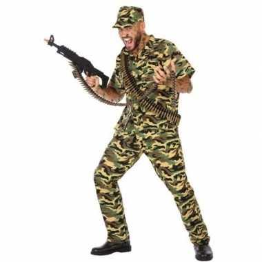 Camouflage soldaat pak/carnavalskleding voor heren