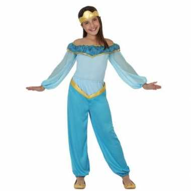 Carnavalskleding blauwe arabische prinses