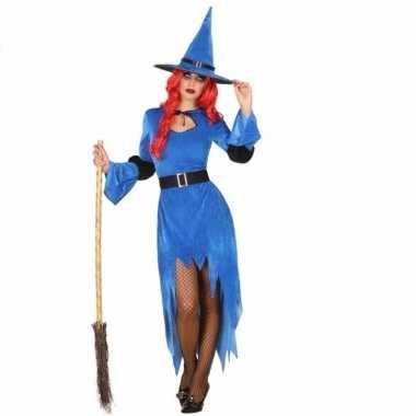 Carnavalskleding blauwe heks