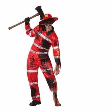 Carnavalskleding brandweer zombie