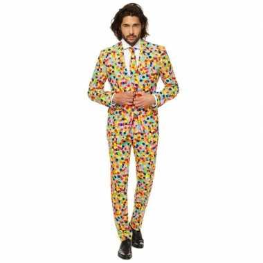 Carnavalskleding confetti voor heren