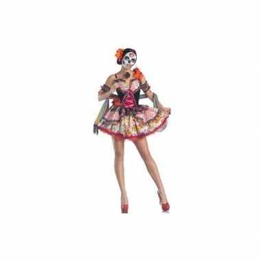 Carnavalskleding day of the dead senorita jurk