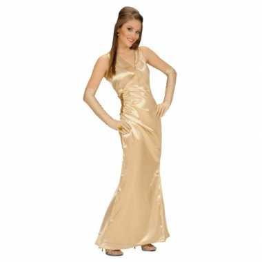 Carnavalskleding gouden jurk voor dames