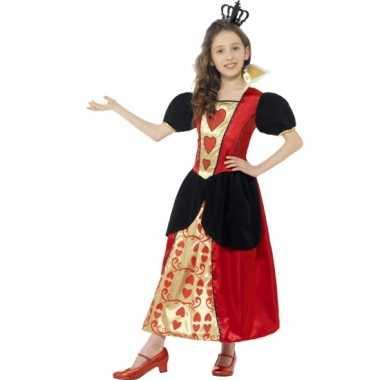 Carnavalskleding harten koningin jurkje