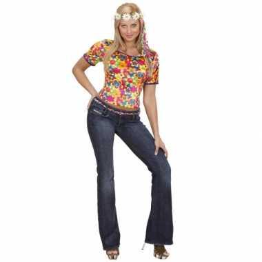 Carnavalskleding hippie shirt dames