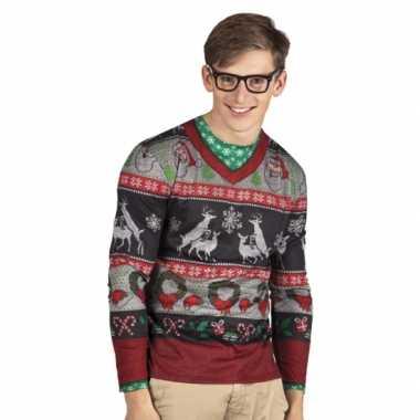 Carnavalskleding kerst heren shirt