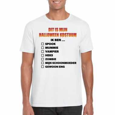 Carnavalskleding lijstje t shirt wit heren