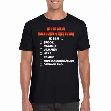 Carnavalskleding lijstje t shirt zwart heren