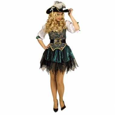 Carnavalskleding piraten jurkje groen