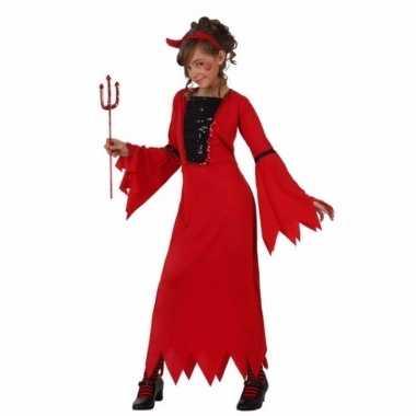 Carnavalskleding rode duiveljurk voor meiden