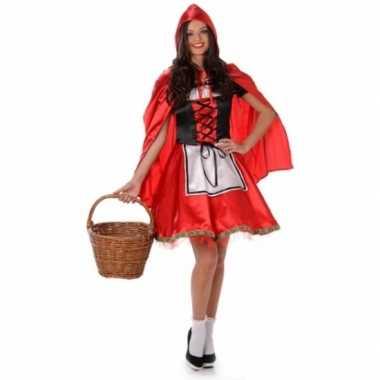 Carnavalskleding roodkapje voor dames