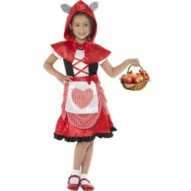 Carnavalskleding roodkapje voor meisjes