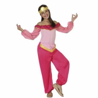 Carnavalskleding roze arabische prinses