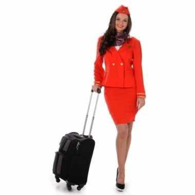 Carnavalskleding stewardess rood
