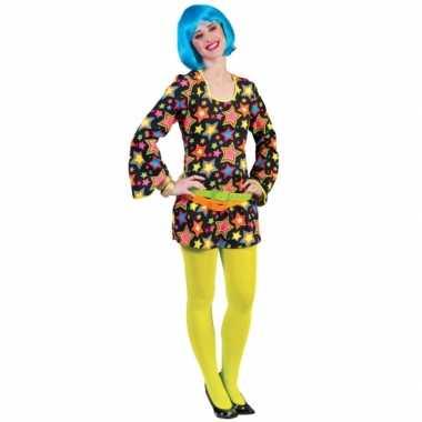 Carnavalskleding voor felgekleurde disco jurk