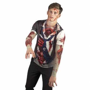 Carnavalskleding zombie man shirt