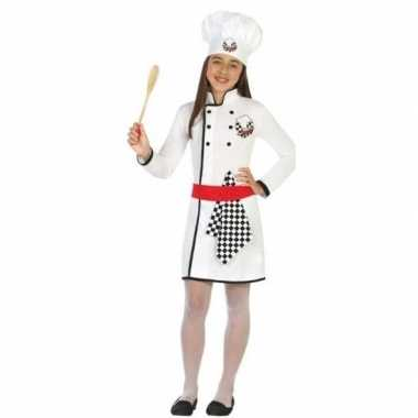 Chef kok carnavalskleding/jurk voor meisjes