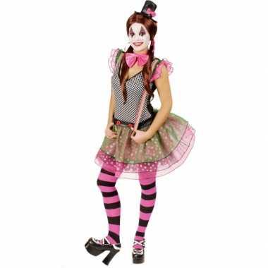 Clown carnavalskleding voor dames