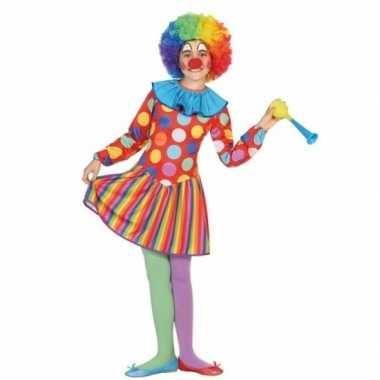 Clown dotty carnavalskleding voor meisjes