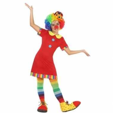 Clown floppy carnavalskleding voor meisjes