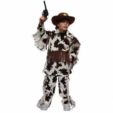 Cowboy carnavalskleding met koeienprint voor kinderen