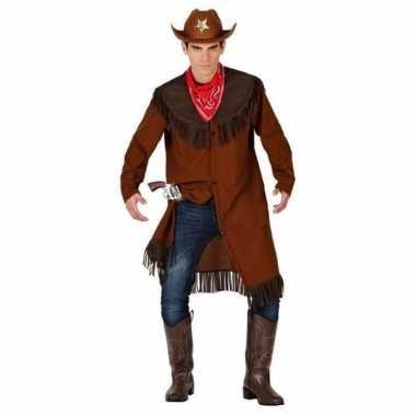 Cowboy/western jas carnavalskleding voor heren