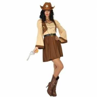 Cowgirl/cowboy cassidy carnavalskleding/jurk voor dames