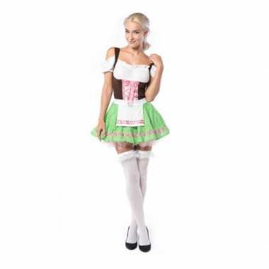 Dames carnavalskleding groen/roze