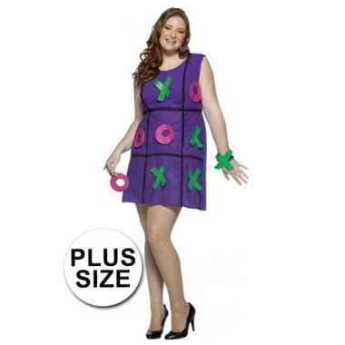 Dames carnavalskleding jurk paars plus size